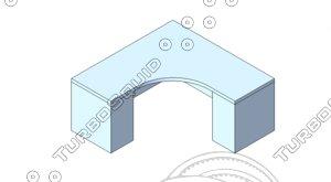 free design table revit 2012 3d model