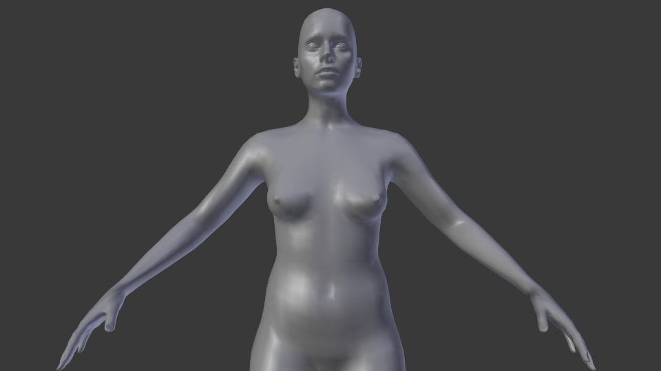 basic human female nude 3d 3ds
