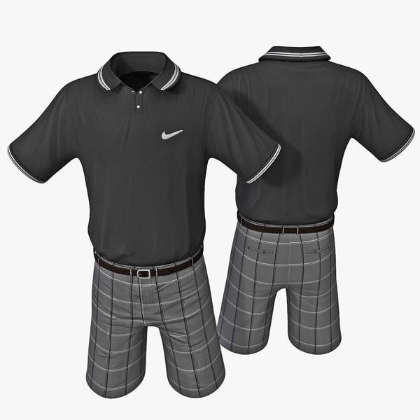 3d model golf clothes 3