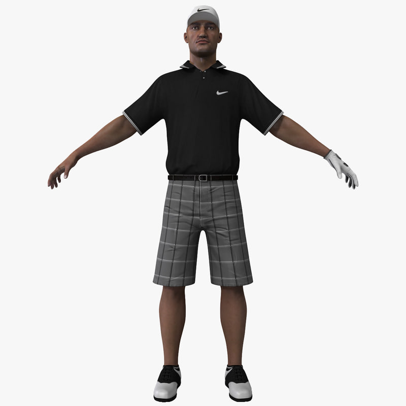 3d golfer rigged 2