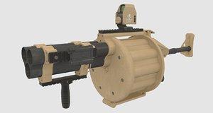 3d model grenade launcher