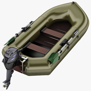 inflatable boat 4 3d model