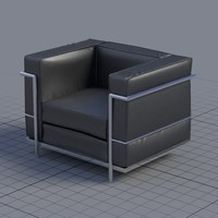 3d chair le corbusier
