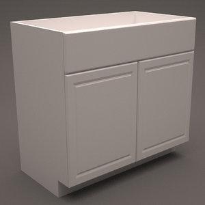 3d hampton bay base cabinet model