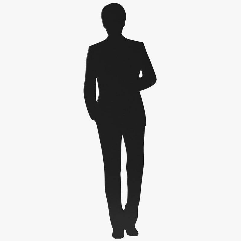 3ds man suit silhouette
