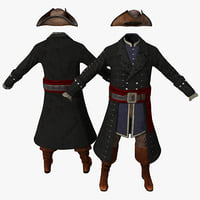 3d model pirate costume 2
