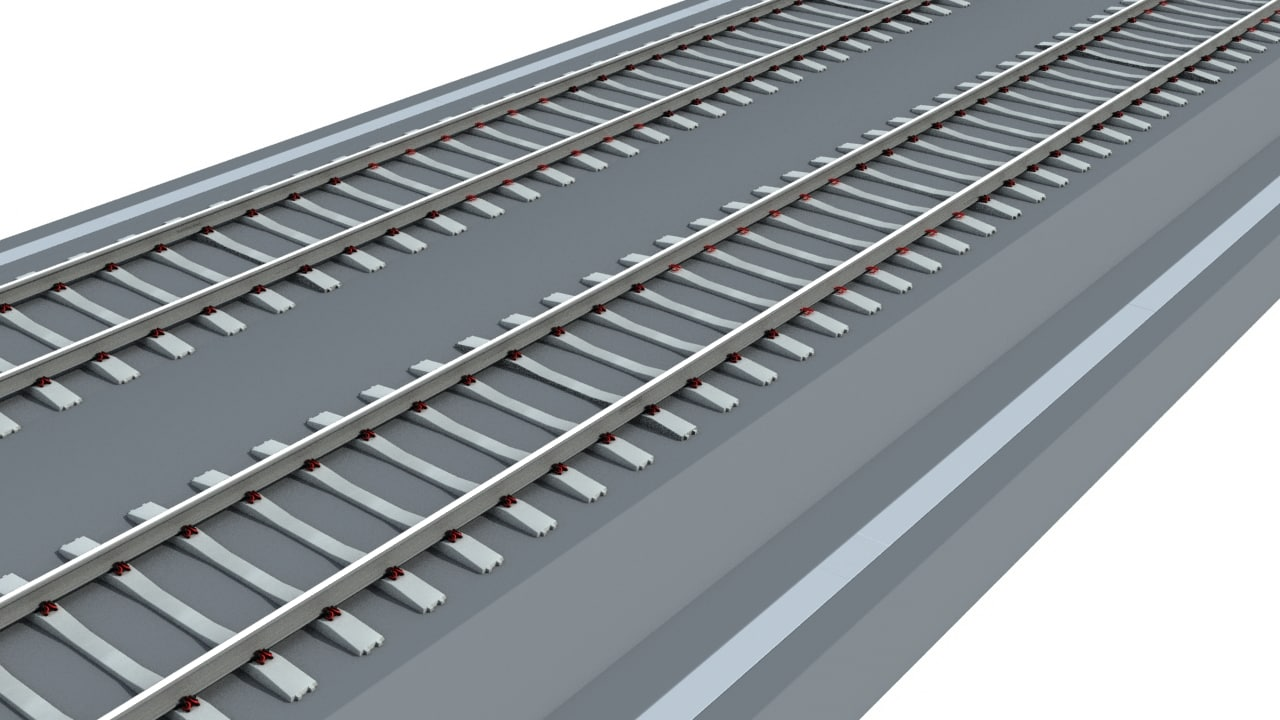 3ds max railway track
