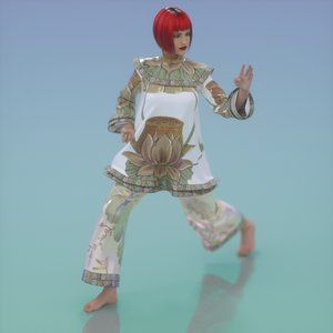 chinese outfit 3d obj