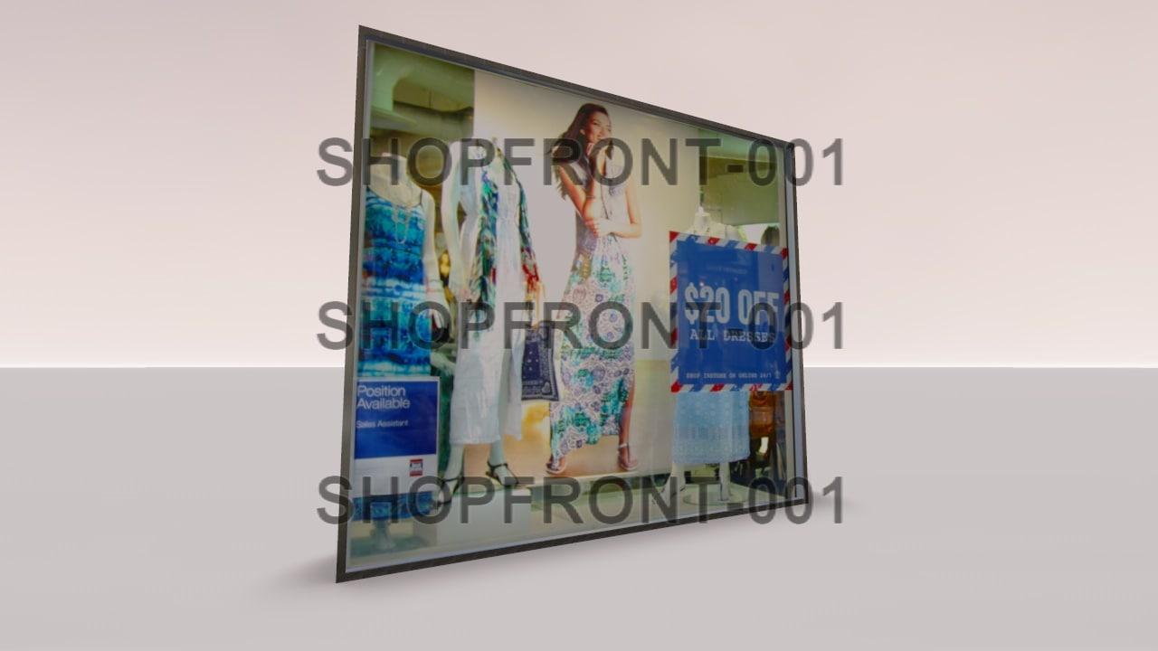 3d shopfront-001 shopfront shop model