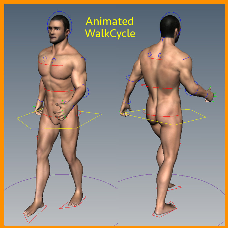 maya male rigged