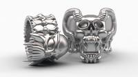 3d skull rings model