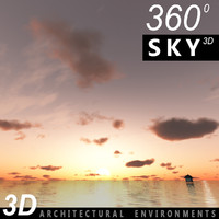 Sky 3D Sunset 042