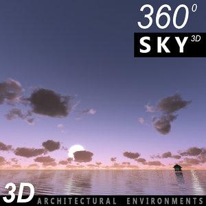 sky clouds obj