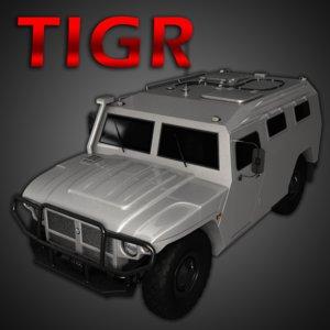 free gaz tigr 3d model