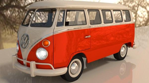 3d kombi bus model