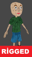 Lowpoly Cartoon Kid