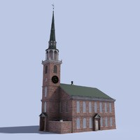 old south meeting house 3d model