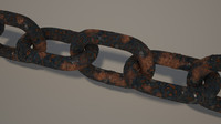 chain rusted metal 3d max