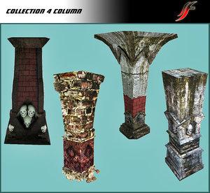 set column dungeon 3d model