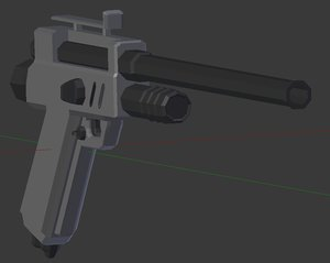 dart pistol 3d model