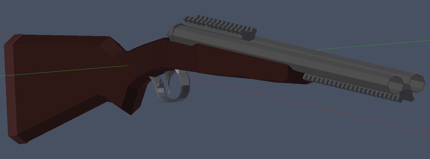 3d double barrel shotgun model