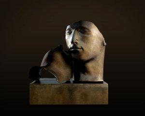 3d bronze face statue model