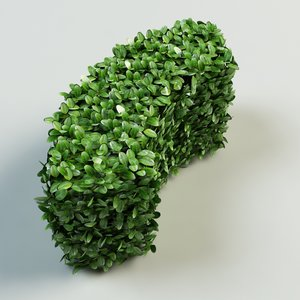 3ds max arc hedge bushes