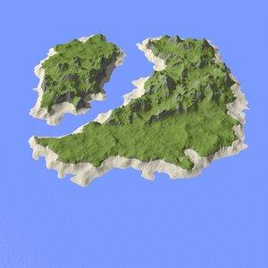 3d model of landscape island