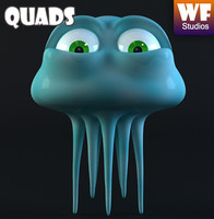 3ds max jellyfish jelly character