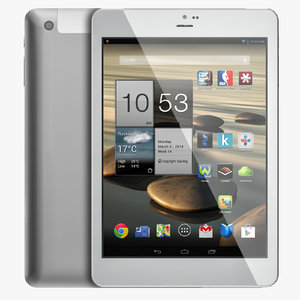 android white pc tablet 3d max