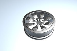 3d car rim