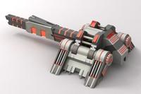 sci-fi laser cannon 1 max