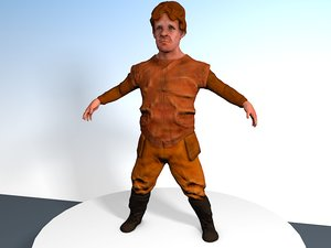small soldier leather 3d 3ds