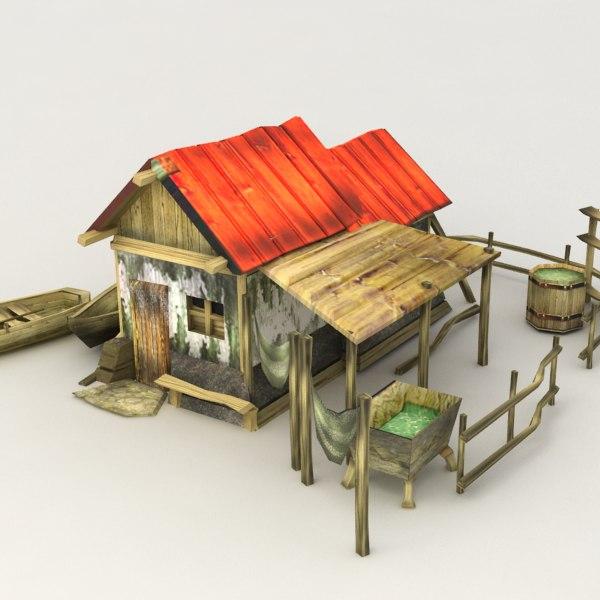 max fisherman hut house fishing