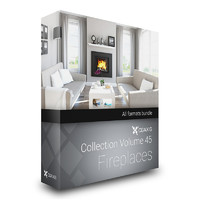 CGAxis Models Volume 45 Fireplaces
