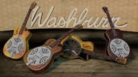 washburn resonator guitar 3ds
