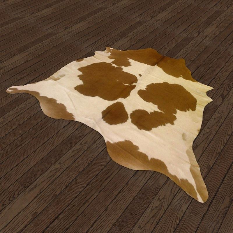 cow hide rug 3d c4d