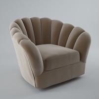 John Salibello - Fan Back Upholstered Club Chair