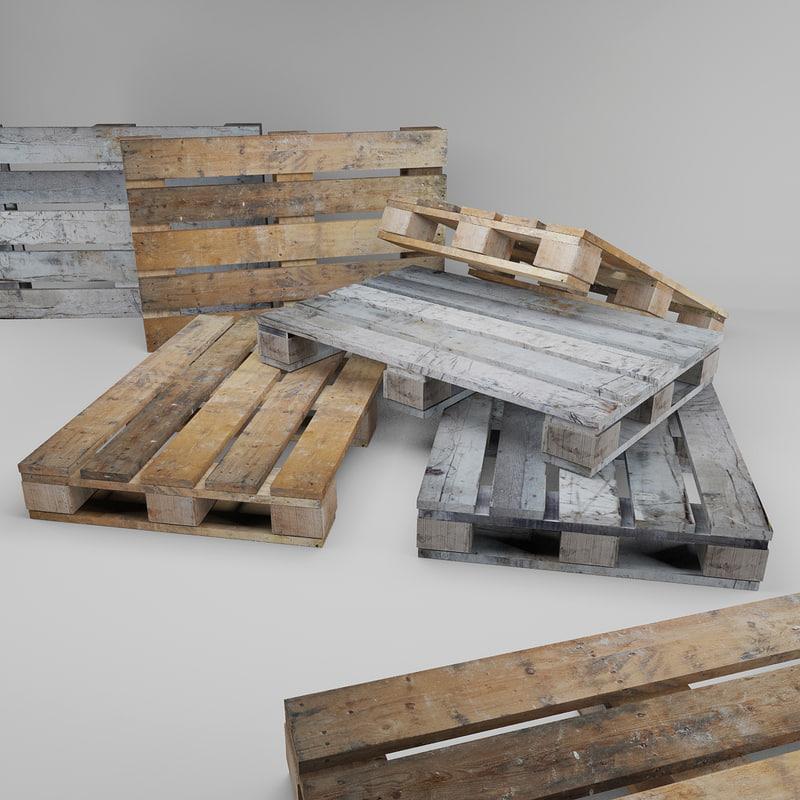 old wooden pallet 3d model