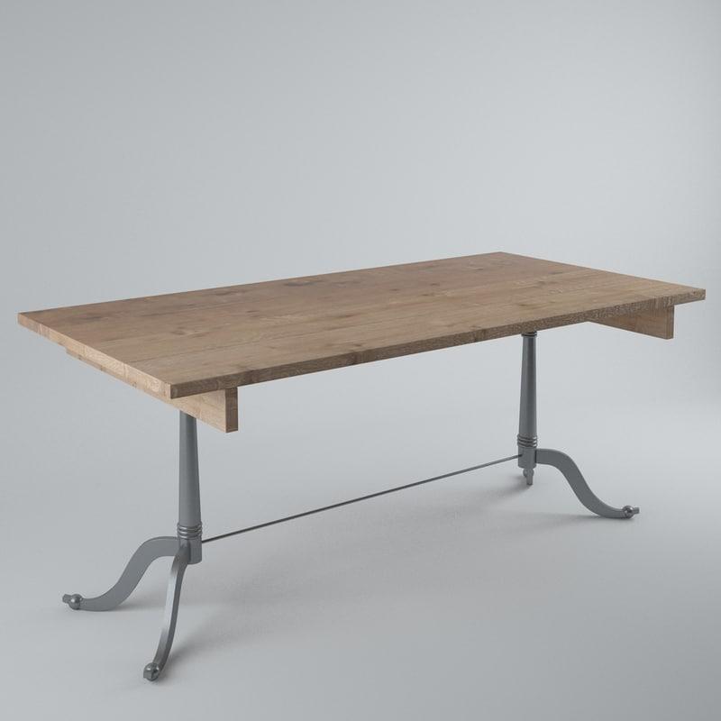 3d hanjel table repas model