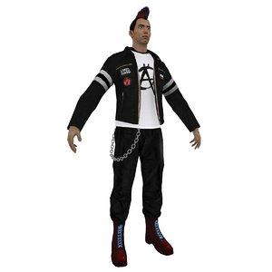 punker punk 3d model