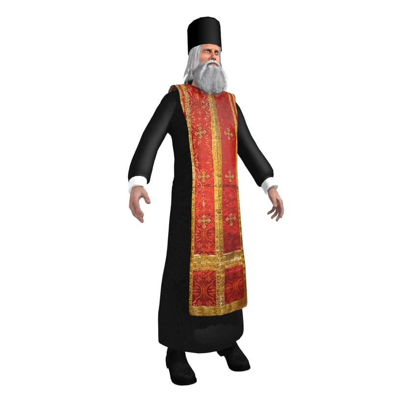 3d orthodox priest