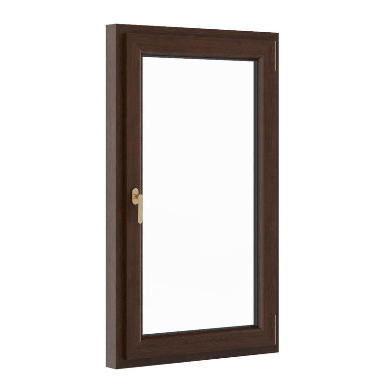 3d model of openable wooden window 900mm