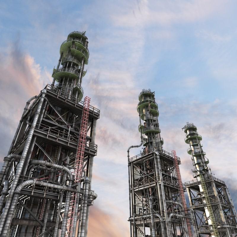 refinery oil 3d max