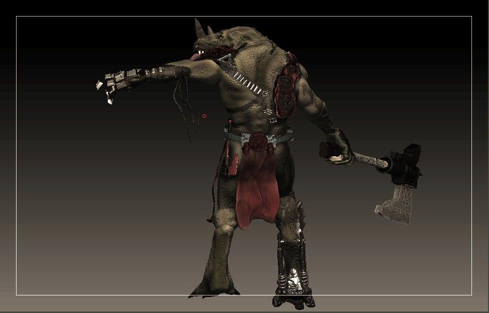 3d model rino monster