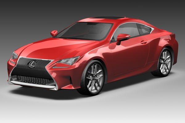 3d model lexus rc