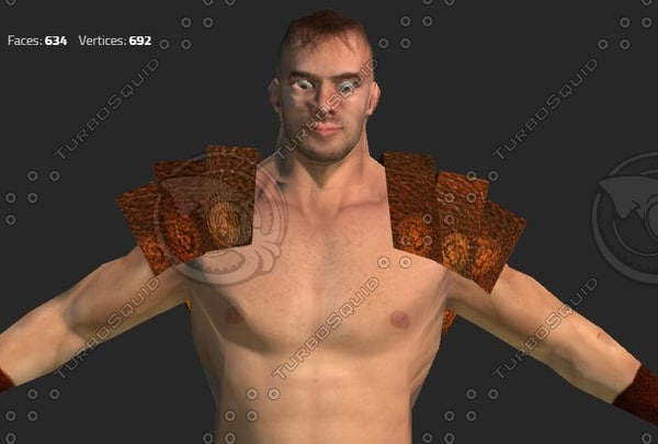 3d warrior man gladiator model