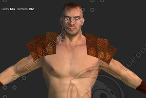 3d warrior man gladiator model