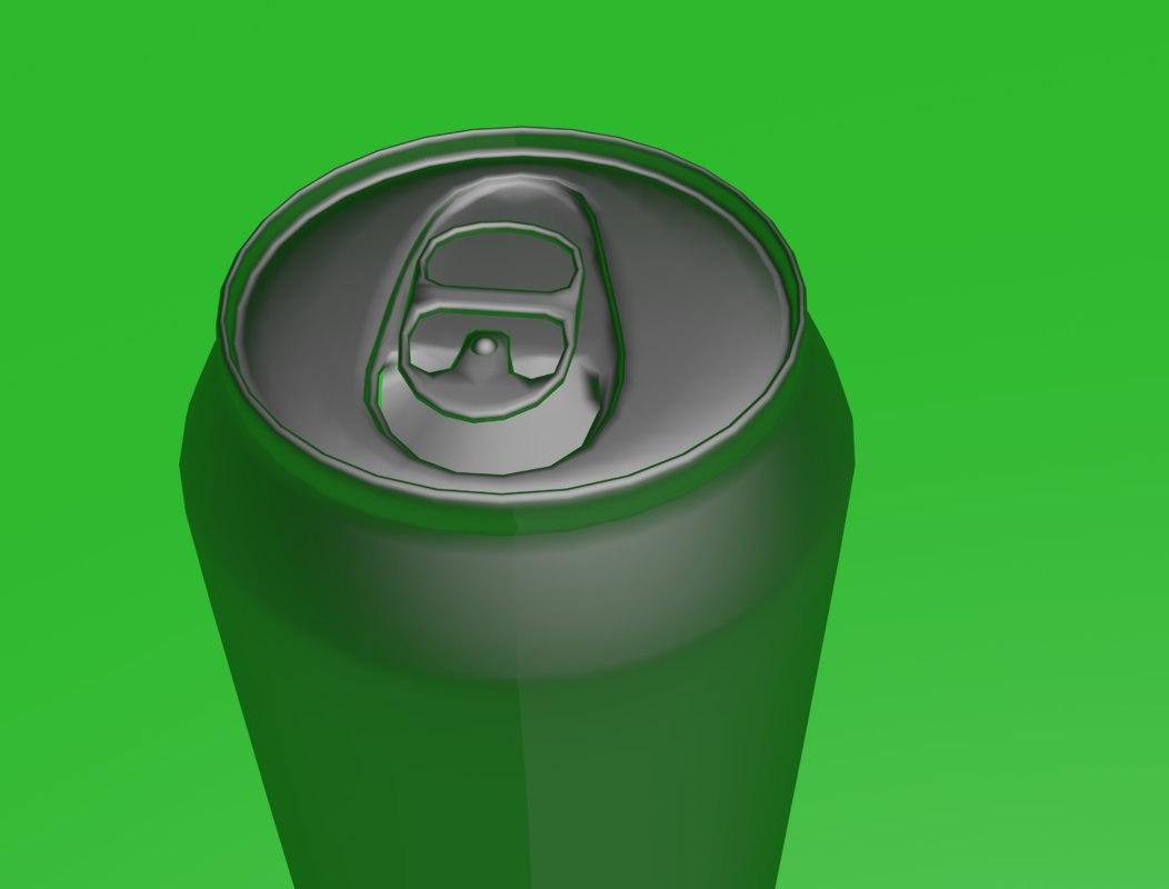 aluminium beverage 3d model