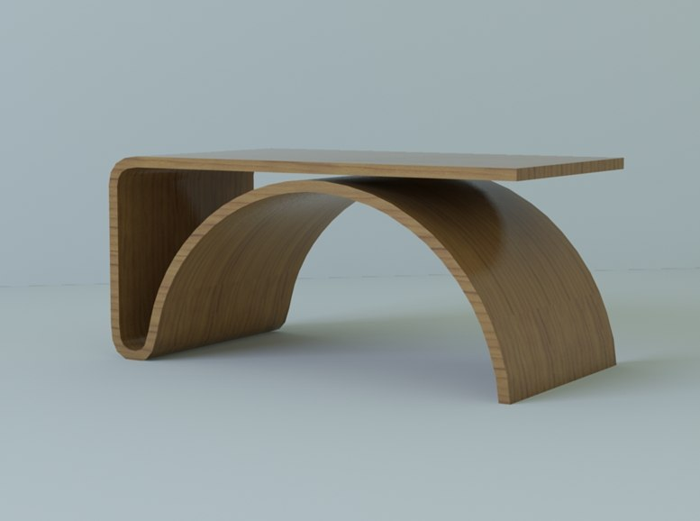 kaari coffee table 3d model